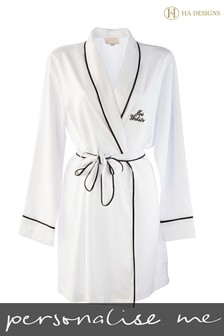 Personalised HA Sleep Dressing Gown Robe By HA Designs