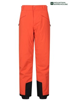 Mountain Warehouse Orange Orbit 4 Way Stretch Mens Recco Ski Pants