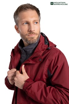 Mountain Warehouse Red Thunderstorm Mens 3 In 1 Jacket