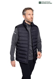 Mountain Warehouse Black Seasons Mens Padded Gilet