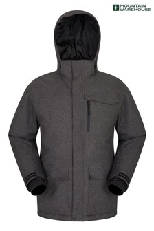 Mountain Warehouse Black and Grey Comet Mens Ski Jacket