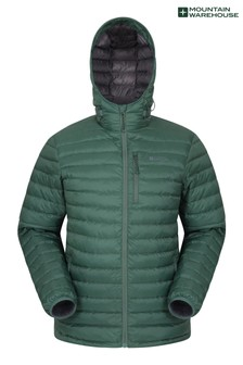 Mountain Warehouse Dark Green Henry Ii Extreme Mens Down Padded Jacket