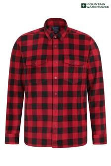 Mountain Warehouse Black Mens Fleece Shirt