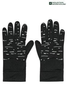 Mountain Warehouse Black Illuminate Mens Stretch Running Gloves