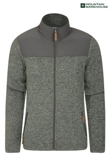 Mountain Warehouse Grey Idris Panelled Mens Full-Zip Fleece