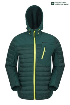 Mountain Warehouse Dark Green Turbine Ii Mens Padded Softshell