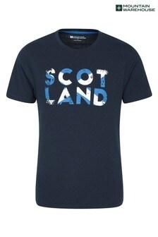 Mountain Warehouse Blue Scotland Word Mens Tee