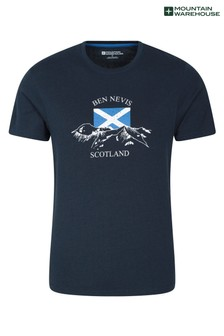 Mountain Warehouse Navy Scotland Word Mens Tee