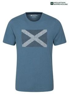 Mountain Warehouse Mid Blue Scotland Word Mens Tee