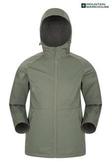 Mountain Warehouse Khaki Helsinki Recycled Softshell Mens Jacket