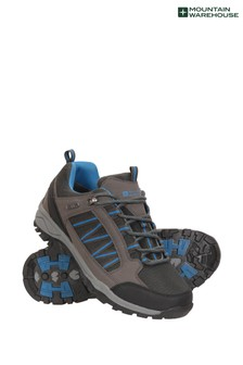 Mountain Warehouse Black Path Waterproof Mens Walking Shoes
