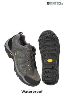 Mountain Warehouse Grey Field Mens Waterproof Wide-Fit Vibram Shoes