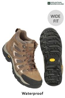 Mountain Warehouse Brown Field Waterproof Mens Wide-Fit Vibram Boots