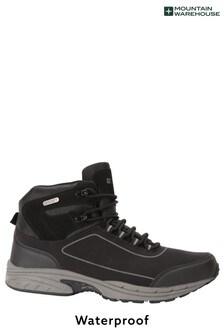 Mountain Warehouse Black and Grey Ramble Mens Waterproof Softshell Boots