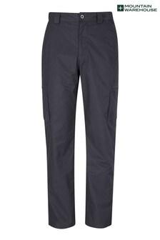 Mountain Warehouse Black Trek Li Mens Trousers - Short Length