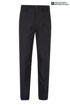 Mountain Warehouse Black Trek Stretch Mens Trousers - Short Length