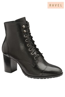Ravel Lace Up Leather Ankle Boot