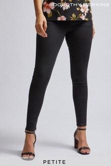 Dorothy Perkins Black Petite Skinny Coated Jeans
