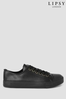 Spot On PU Lace Up Trainer