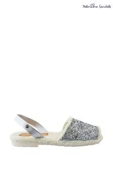 Palmaira Sandals Silver Snugs Slippers with Shearling Inner