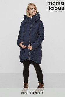 Mamalicious Navy 3 In 1 Maternity And Carry Coat