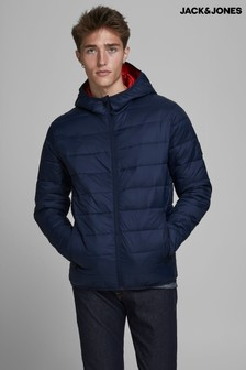 Jack & Jones Navy Hooded Padded Jacket
