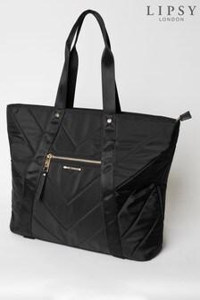 Lipsy Black Nylon Workout Bag