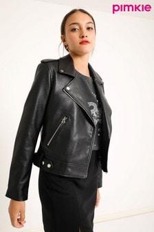 Pimkie Black Faux Leather Biker Jacket