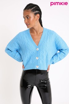 Pimkie Blue Cropped button through Cardigan