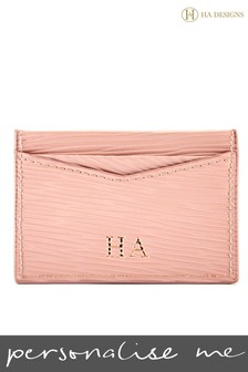 Personalised Leather Card Holder By HA Designs