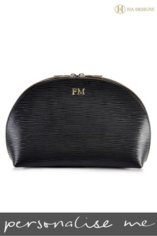 Personalised EPI Leather Cosmetic Pouch Moon Bag By HA Designs