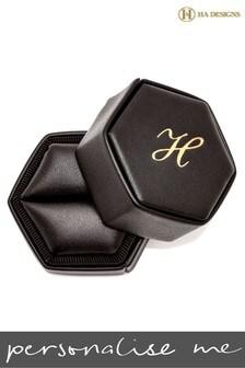 Personalised Hexagon Ring Box By HA Designs