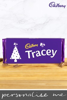 Personalised Cadbury Dairy Milk Bar 360g with Christmas Tree Emoji By Yoodoo