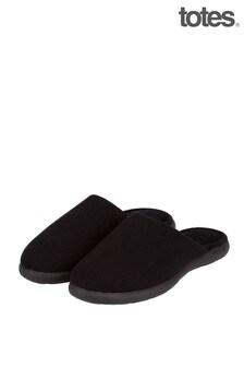 Totes Black Isotoner I Flex Waffle Mule