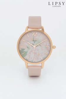 Lipsy Nude Floral Watch