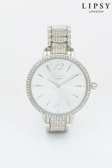 Lipsy Silver Diamante Watch