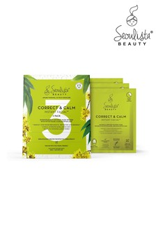 Seoulista Beauty Correct & Calm Instant Facial Pack of 3
