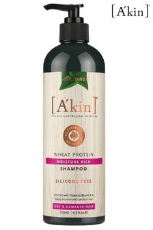 A'kin Moisture Rich Wheat Protein Shampoo 500ml