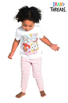 Brand Threads Pink Disney Animals Girls Pyjamas
