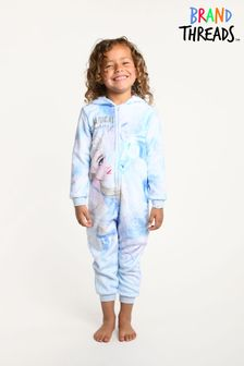 Brand Threads Blue Frozen Elsa Girls Fleece Onesie