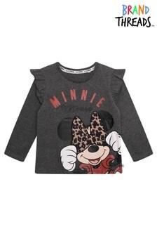 Brand Threads Grey Disney - Minnie Mouse Girls T-Shirt