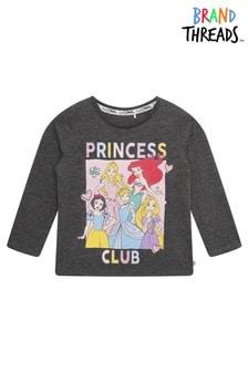 Brand Threads Grey Disney Princesses Girls T-Shirt