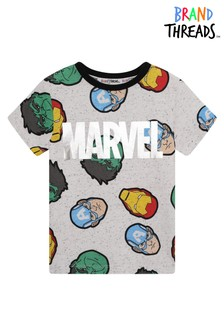 Brand Threads White Marvel Boys T-Shirt