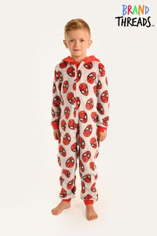Brand Threads Marvel - Spiderman Boys Fleece Onesie