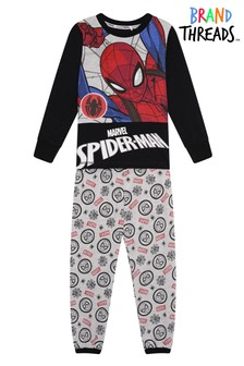 Brand Threads Red Marvel - Spiderman Boys Pyjamas