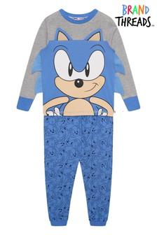 Brand Threads Blue Sonic The Hedgehog Boys Pyjamas