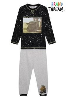 Brand Threads Black The Mandalorian - The Child Boys Pyjamas