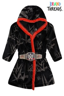 Brand Threads Black WWE Boys Robe