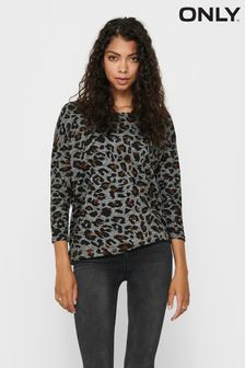 Only Blue 3/4 Sleeve Printed Top