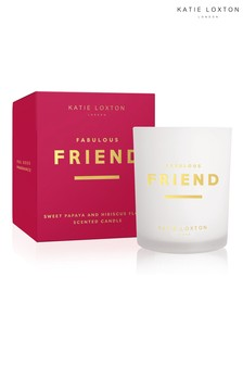 Katie Loxton Sentiment Candle | Fabulous Friend | Sweet Papaya and Hibiscus Flower | 160g